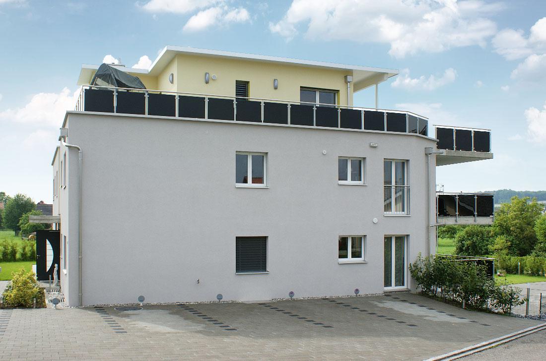 Bau eines Mehrfamilienhauses