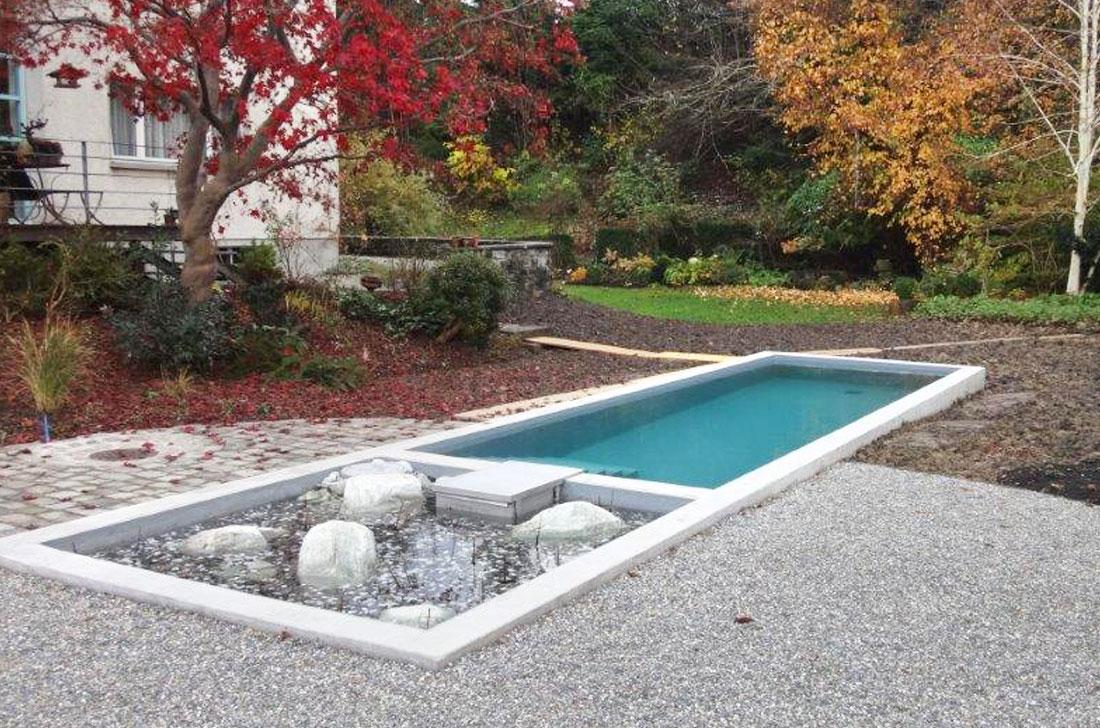 Bau Pool-Anlage